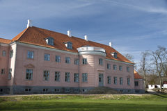 Casa de señorío rosada Imágenes de archivo libres de regalías