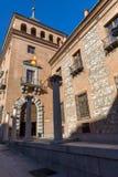 Casa de sete chaminés na cidade do Madri, Espanha Fotografia de Stock Royalty Free