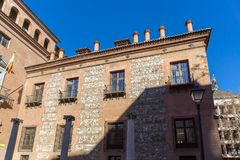 Casa de sete chaminés na cidade do Madri, Espanha Fotos de Stock