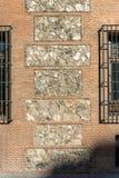 Casa de sete chaminés na cidade do Madri, Espanha Fotografia de Stock