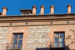 Casa de sete chaminés na cidade do Madri, Espanha Foto de Stock