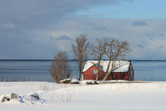 Casa de Sund en Lofoten Imagen de archivo libre de regalías