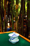 Casa de té de bambú Imágenes de archivo libres de regalías