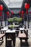 Casa de té de la ciudad antigua. Fotografía de archivo
