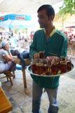 Casa de té en el bazar de Urfa Foto de archivo libre de regalías