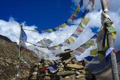 Casa de té en el Himalaya, Nepal, región de Manang imagen de archivo libre de regalías