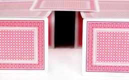 Casa de tarjetas Foto de archivo