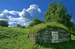 Casa de terra antiga fotografia de stock