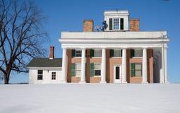Casa de Terwilliger en nieve Foto de archivo