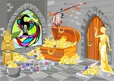 Casa de tesouro ilustração do vetor