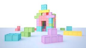Casa de Tetris Fotos de archivo