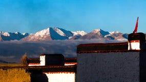 Casa de Tibeten em Zhongba Foto de Stock
