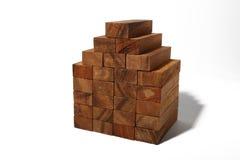 Casa de tijolos de madeira Fotografia de Stock