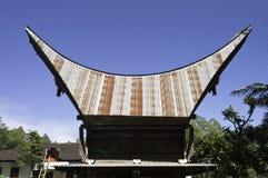 Casa de Toraja Tradional imagem de stock