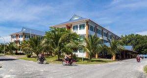Casa de Tuvalu Construção do governo de Tuvalu fotos de stock