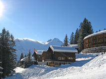 Casa de vacaciones del invierno Fotos de archivo libres de regalías