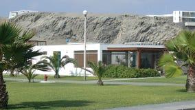 Casa de verão na praia do golfe do EL, ao sul de Lima Foto de Stock