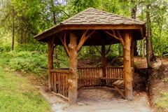 Casa de verão no jardim Imagem de Stock Royalty Free