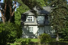 Casa de verano en Europa del Norte, Tallinn, Estonia, 2016 foto de archivo