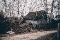 Casa de verano vieja abandonada Fotografía de archivo libre de regalías
