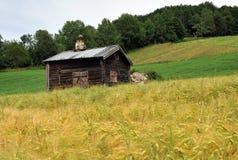 Casa de verano vieja, Noruega Foto de archivo