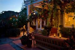 Casa decorada no Natal fotos de stock royalty free