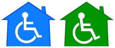 Casa deficiente dos cuidados médicos ilustração royalty free
