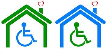 Casa deficiente dos cuidados médicos ilustração do vetor