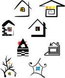 Casa degli elementi di marchio illustrazione vettoriale