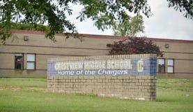 Casa dei caricatori, Covington, TN della scuola secondaria di Crestview Fotografia Stock