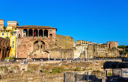 Casa dei Cavalieri di Rodi at the Forum of Augustus in Rome Royalty Free Stock Photography