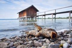 Casa dei fishermans e del pesce Fotografie Stock Libere da Diritti