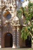 Casa del普拉多在巴波亚公园,圣地亚哥 免版税库存照片