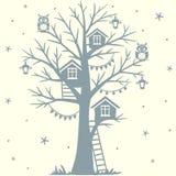 Casa del árbol ilustración del vector