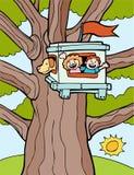 Casa del árbol stock de ilustración