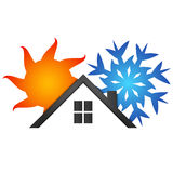 Casa del acondicionador de aire Imagen de archivo