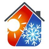 Casa del aire acondicionado Fotografía de archivo