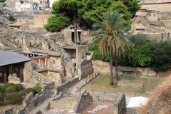 Casa del alivio de Telephus en Herculano, Italia Imagen de archivo libre de regalías