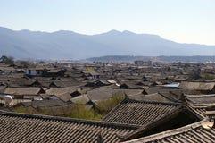 Casa del azulejo en Lijiang Imagen de archivo libre de regalías
