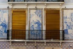 Casa del azulejo en Portugal Imagenes de archivo