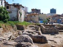 Casa del baño, Durres, Albania Imagen de archivo libre de regalías