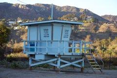 Casa del bagnino sulla spiaggia Fotografia Stock