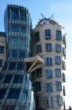 Detalle de la casa del baile, en Praga foto de archivo