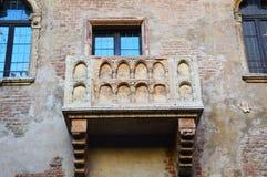Casa del balcón de Juliet en Verona, Italia Fotos de archivo libres de regalías