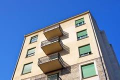 Casa del balcone Fotografia Stock