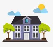 Casa del bene immobile Fotografie Stock Libere da Diritti