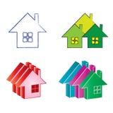 Casa del bene immobile di marchi illustrazione di stock