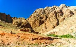 Casa del Berber al lado de Gorges du Dades en Marruecos Imagenes de archivo