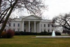 Casa del blanco del invierno Imagen de archivo