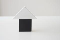 Casa del blocco di legno Fotografia Stock